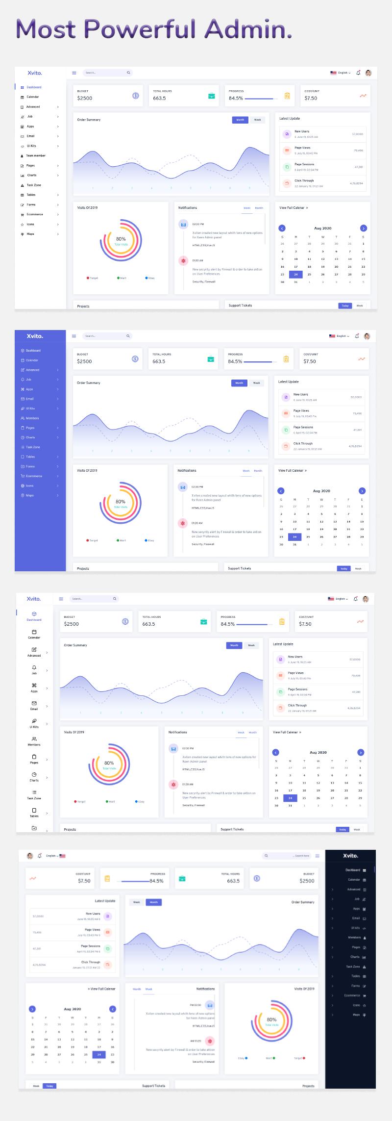 Xvito - Responsive Bootstrap Admin Dashboard Template - 2